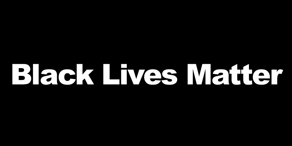 White text on solid black background: Black Lives Matter